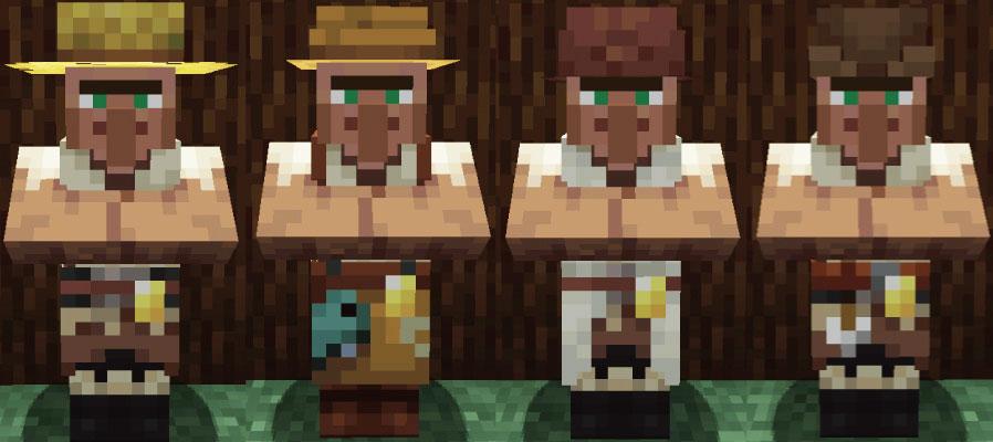 タイガの村人農民と釣り人と羊飼いと矢師