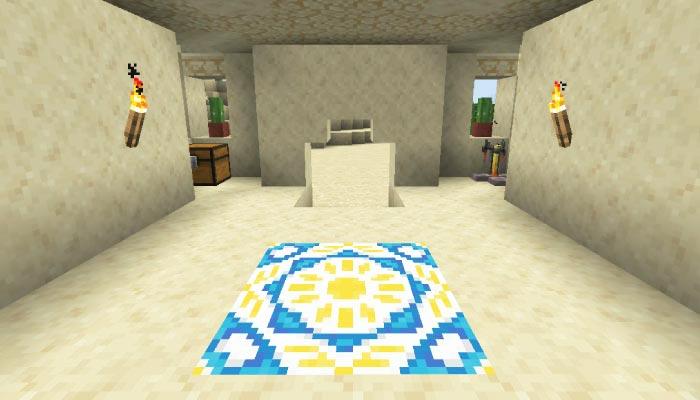 砂漠の村の寺院の内装