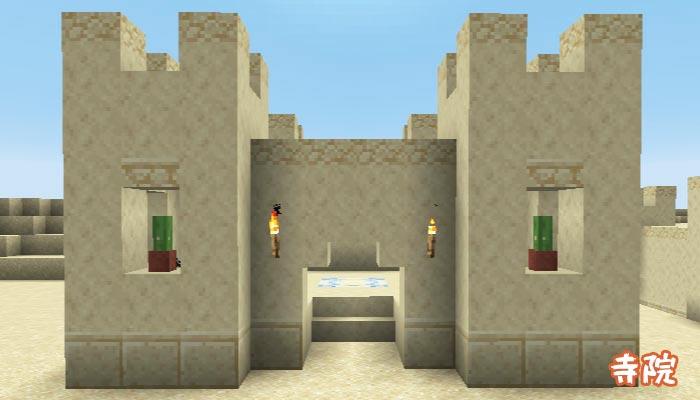 砂漠の村の寺院
