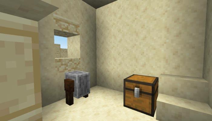 砂漠の村の武器鍛冶屋の家の内装