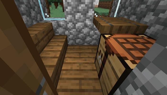 新しいタイガの村の武器鍛冶屋の内装