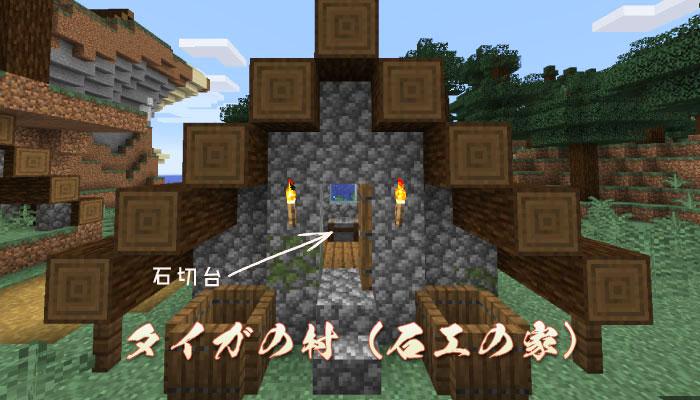 タイガの村の石工屋の家