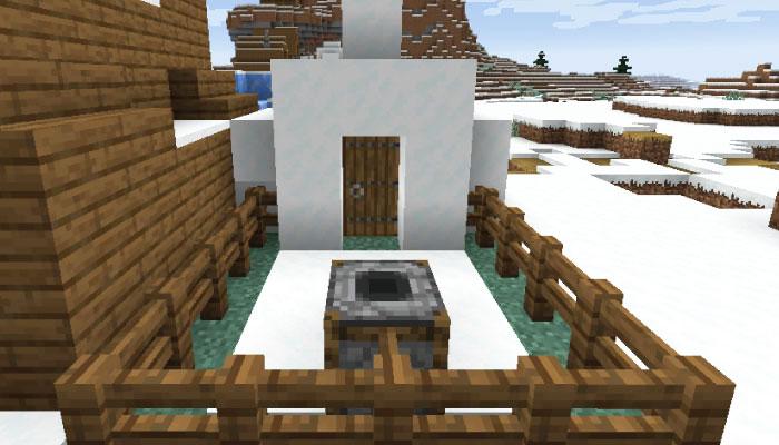 雪原の村の肉屋