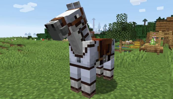 すみれ色の革の馬鎧