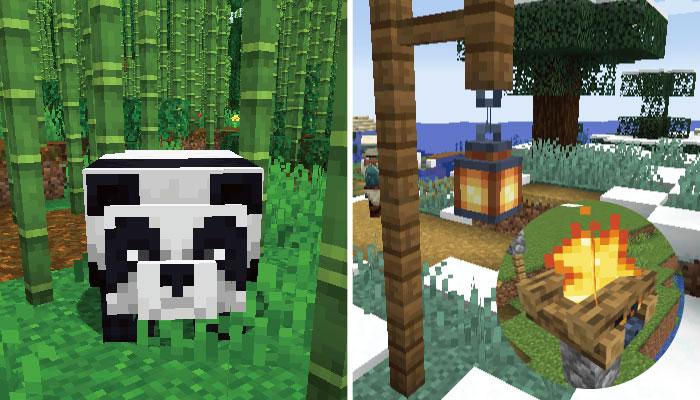 パンダにランタンにキャンプファイア