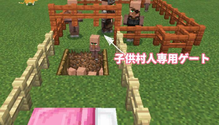 子供村人のゲート