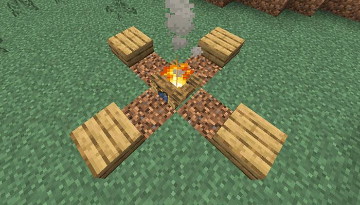 焚き火の休憩場