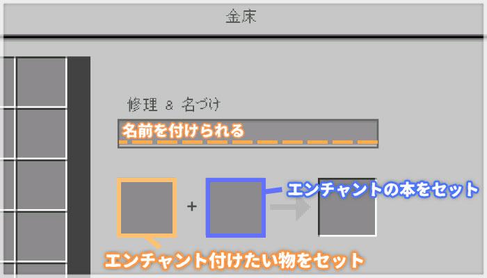 金床のGUIと使い方