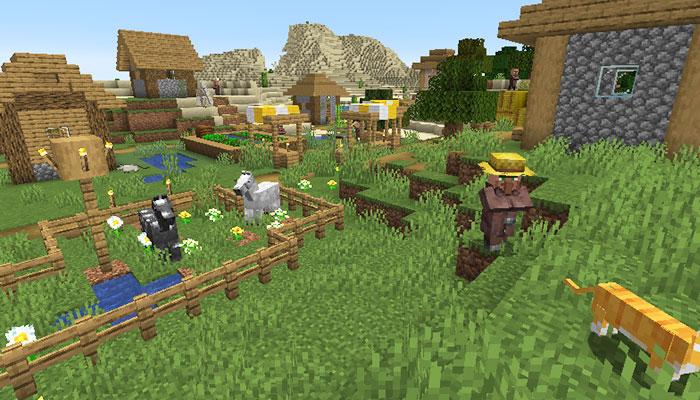 ほのぼのとした平原の村