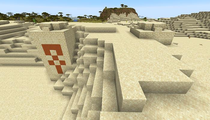 埋もれた砂漠の寺院