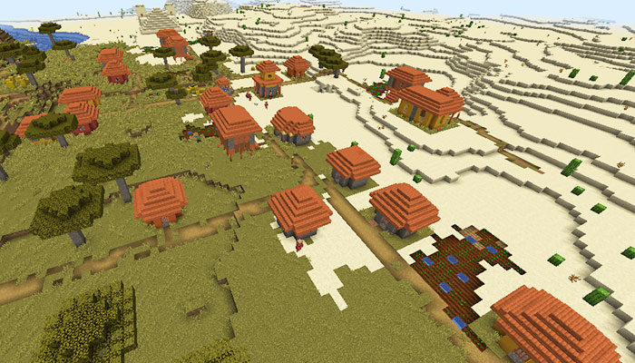 サバンナの村と寺院