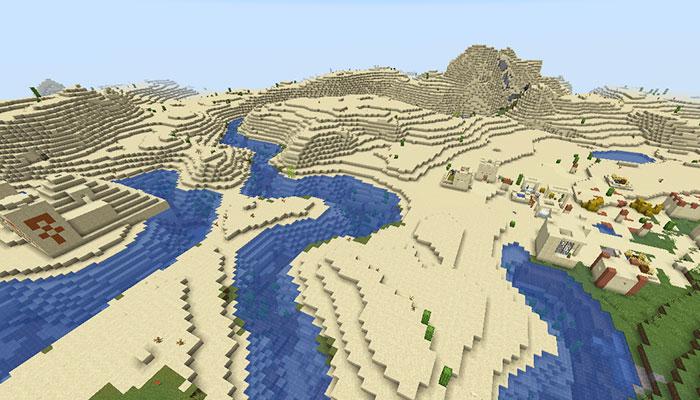 砂漠の寺院と砂漠の村