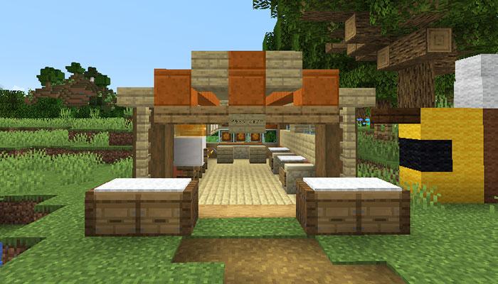 養蜂場の売店