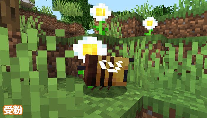 ミツバチが受粉