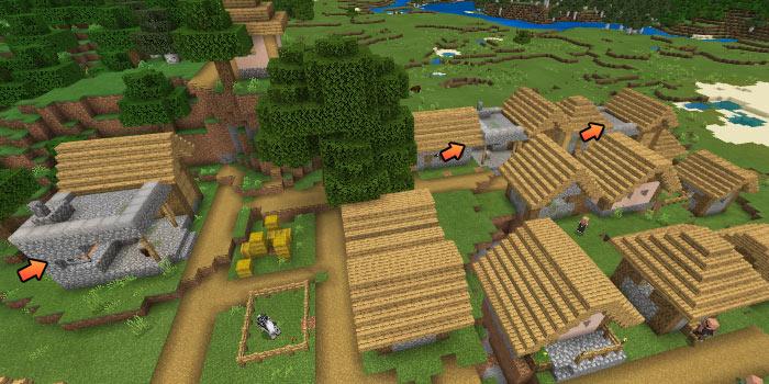 鍛冶屋が3つある平原の村