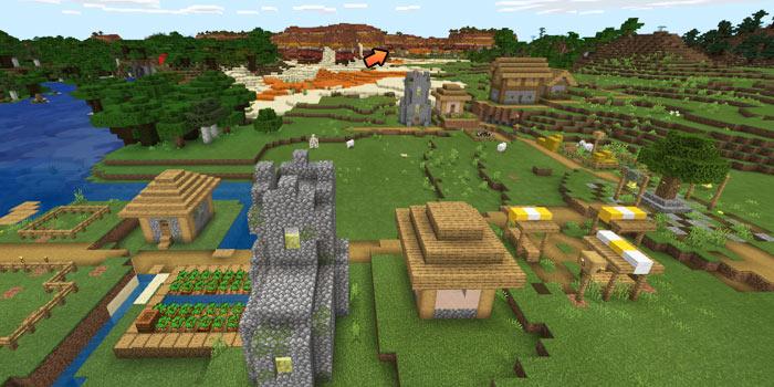 平原の村とメサ高原