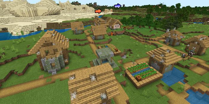 ゾンビ村と砂漠の寺院と前哨基地