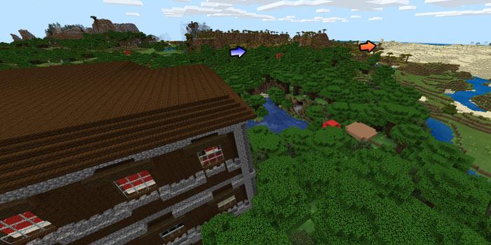 森の洋館と村