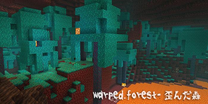 warpedforest歪んだ森バイオーム