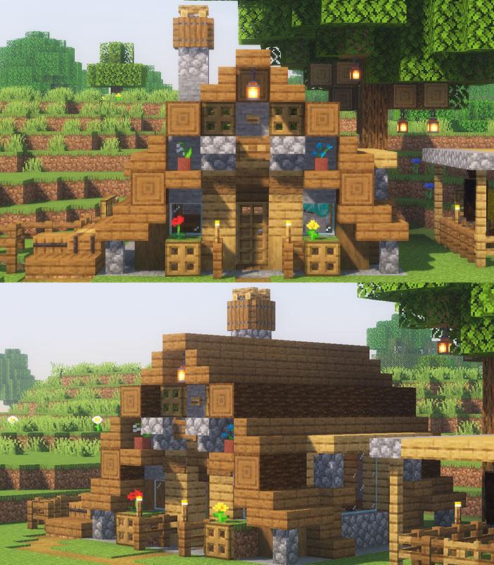 木と石の家の見た目