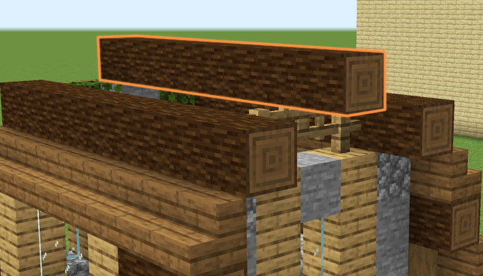 屋根作り(天辺)