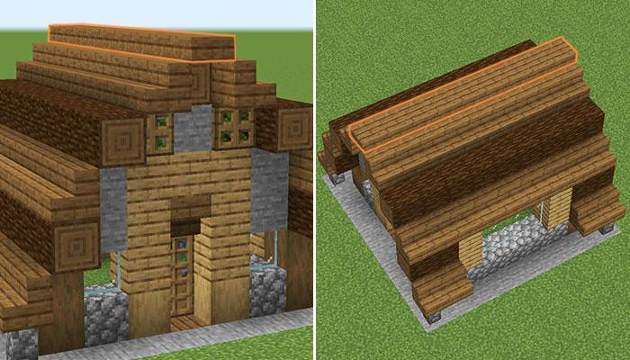 屋根の天辺作り