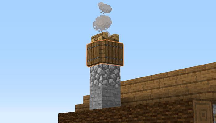 左側面の飾り付け(煙突作り)