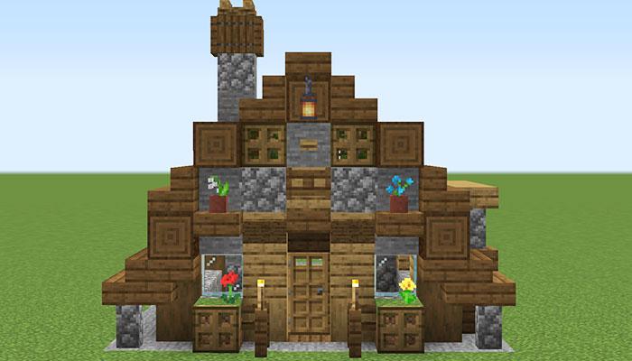 木と石の家が完成