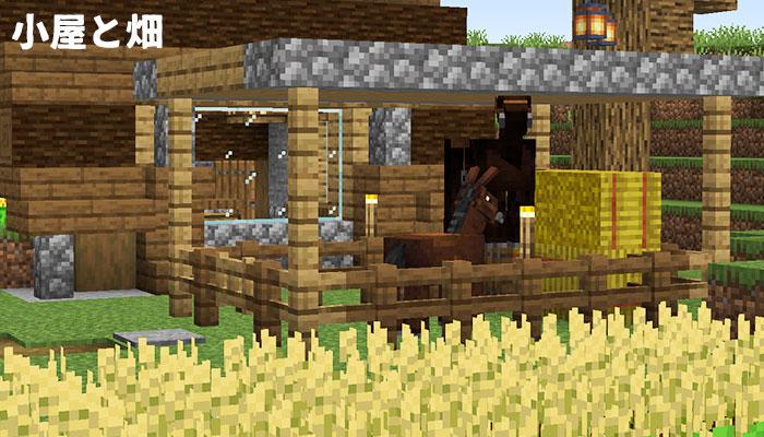 馬小屋と畑