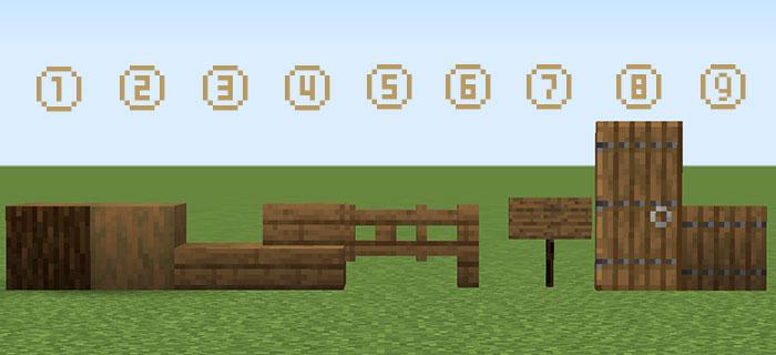 マツの木材の建築材料