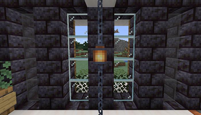 鎖ブロックで内装