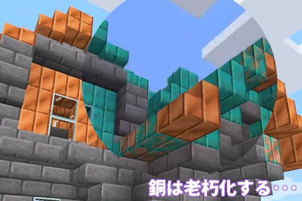 銅ブロックの老朽化