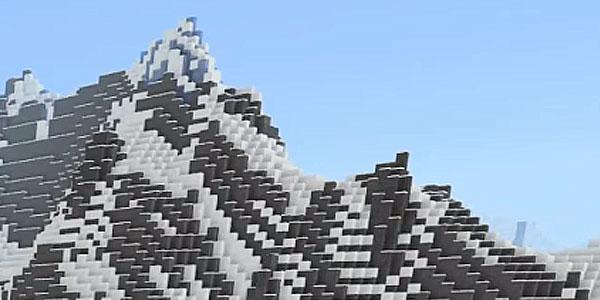 山岳バイオームの地形
