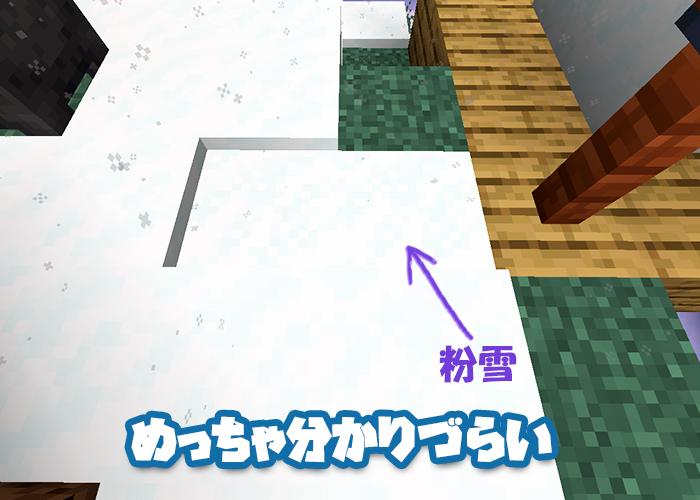 雪に混じる粉雪