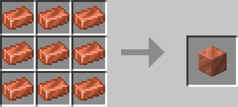 銅ブロックのレシピ