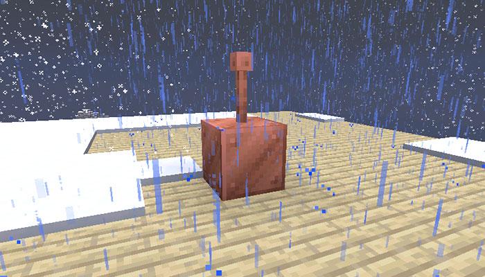 避雷針とブロック
