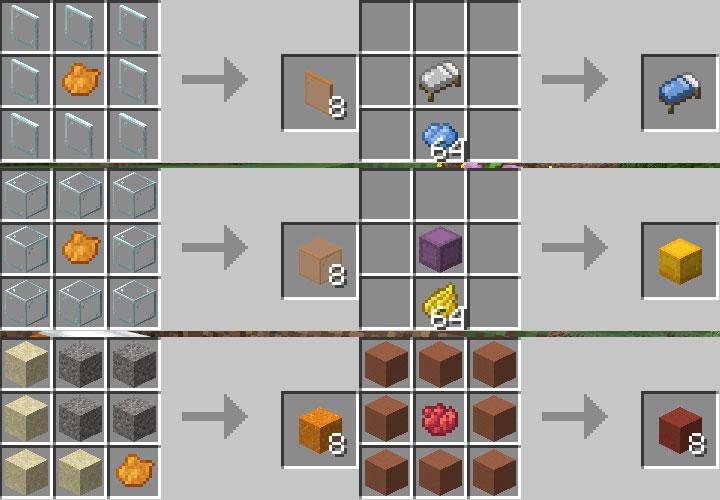 様々なブロックの染色